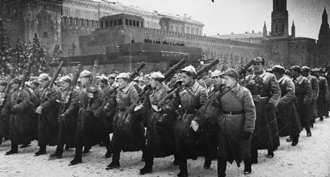 Красная площадь, 7 ноября 1941 года