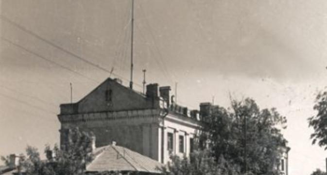 Одна из первых телевизионных антенн в Тамбове, 1959 год